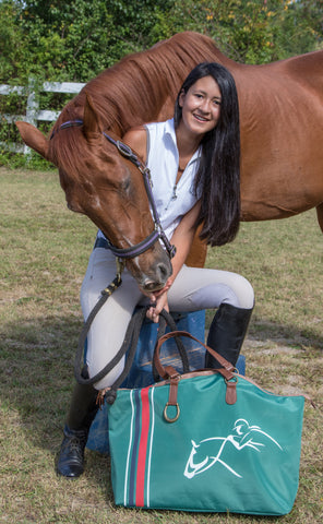Equestrian Weekender Tote Bag - Fully Lined - Weekend, Shopping, Horse Show or Gym Bag