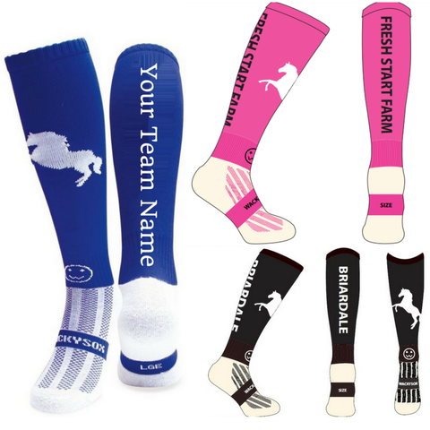 CUSTOMIZE: Horse Riding Equestrian Boot Socks - Min 25 Socks per Size - From the UK