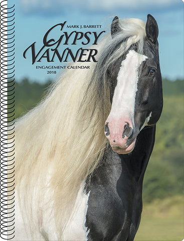 "Gypsy Vanner Engagement Calendar & Planner - 2018 - 8.5 x 7"" - Spiral - 49 pages"