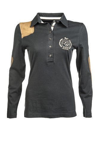 HKM Lauria Garrelli Long Sleeve Riding Top with Elbow Patches - Georgia Horseback