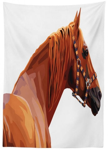 Equine Decor - Chestnut Horse Tablecloth