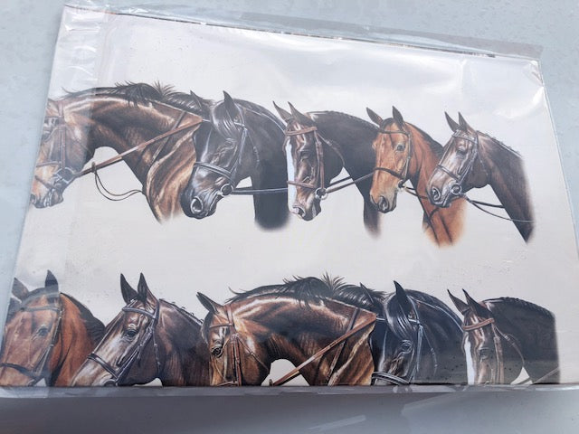 "Equestrian Gift Supplies - Horse Head Gift Wrap Paper ~ Two 22"" x 30"" sheet - Georgia Horseback"