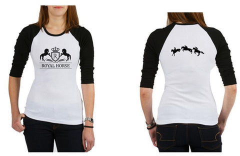Royal Horse Equestrian Tee - Fitted t-shirt - Great gift for a horse lover