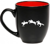 Royal Horse Equestrian Mug - 16oz - two toned - great gift for a horse lover - Georgia Horseback