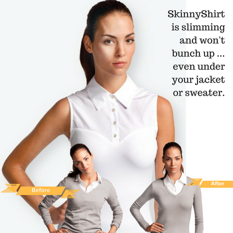 SkinnyShirt - Shapewear and a sleeveless shirt all in one! Riding shirt