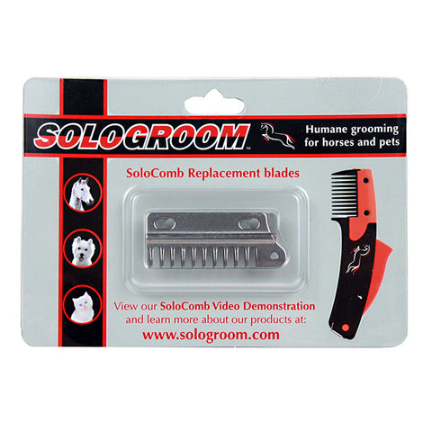 SoloComb Replacement Blades -No Pull Mane & Tail Tool For Horses & Dogs - The alternative to scissors