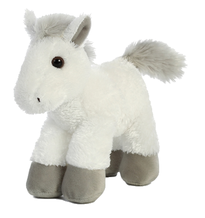 8 Inch Mini Plush Stuffed Animal by Aurora & Adoption Certificate - Georgia Horseback