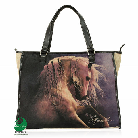 "White Horse Canvas Tote Bag  (18"" x 14"")"