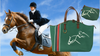 Equestrian Weekender Tote Bag - Fully Lined - Strong Nylon - Weekend, Shopping, Horse Show or Gym Bag - Georgia Horseback