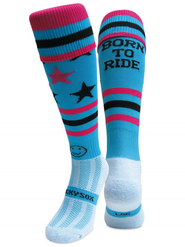 Born to Ride Horse Riding Equestrian Boot Socks - From the UK