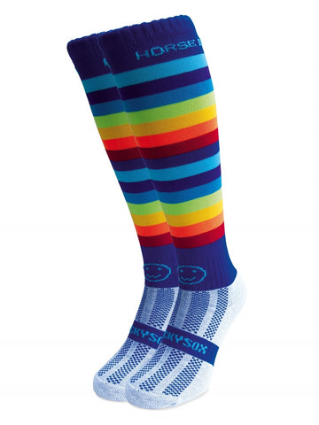Horse Diva Horse Riding Equestrian Boot Socks - Rainbow- From the UK