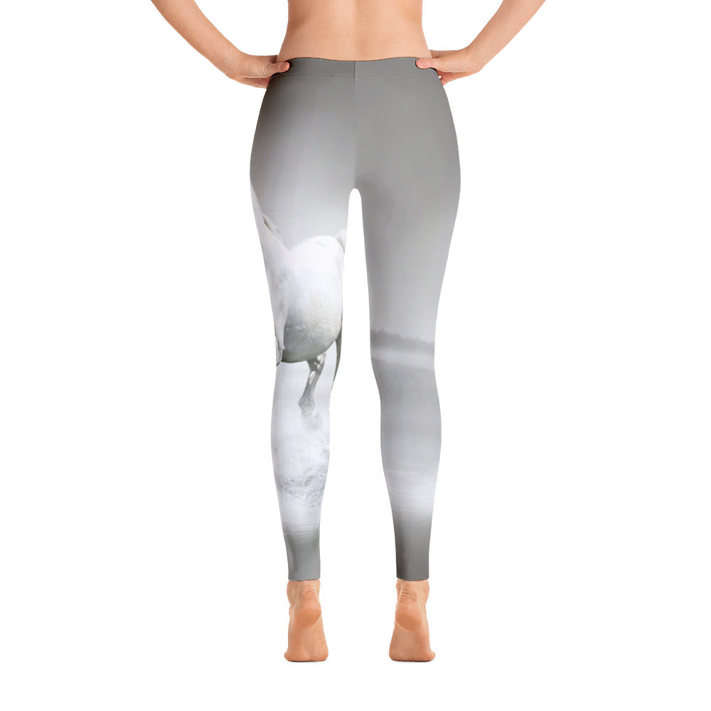 White Horse Leggings - Georgia Horseback