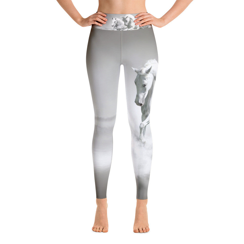 White Horse Yoga Leggings - High waist - Georgia Horseback