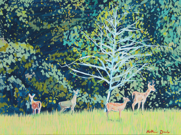 Deer in Yard by Katherine Dunlap