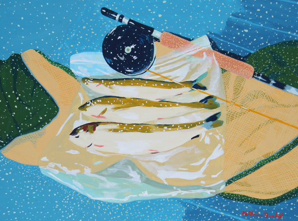 Fish on Ziplock by Katherine Dunlap