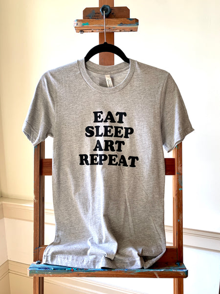 Gibbes Unisex Shirt: Eat Sleep Art Repeat