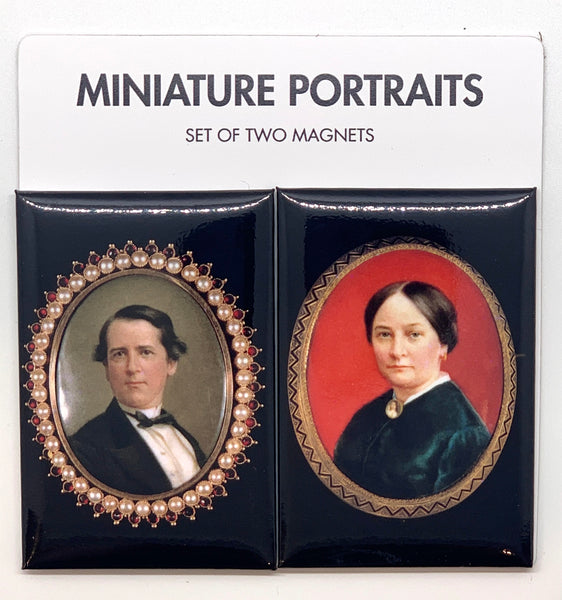 Miniature Portraits Set of Two Magnets