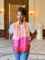 Kristy Bishop Silk Scarf: Osage, Cochineal, & Madder Root