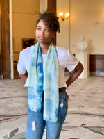 Kristy Bishop Silk Scarf: Osage & Indigo