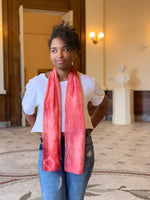 Kristy Bishop Silk Scarf: Madder Root & Indigo
