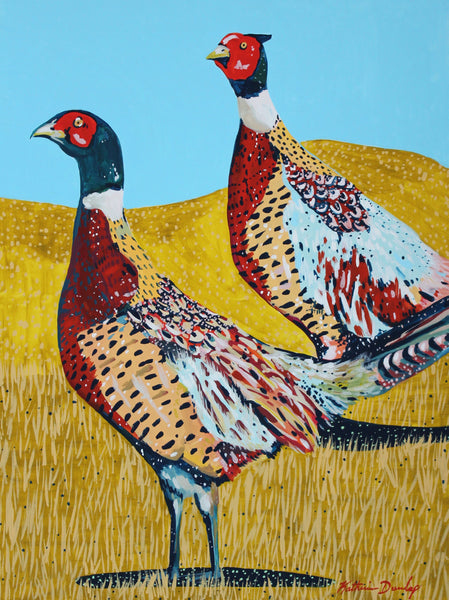 Pair of Pheasants by Katherine Dunlap