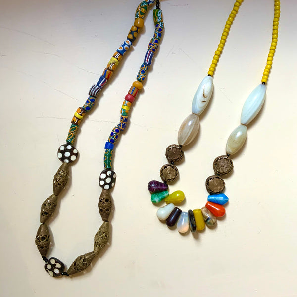 Reflections African Jewelry: Long Beaded Necklace
