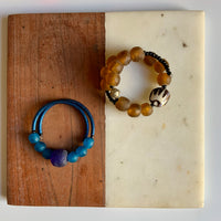 Reflections African Jewelry: Multibead Memory Wire Bracelet