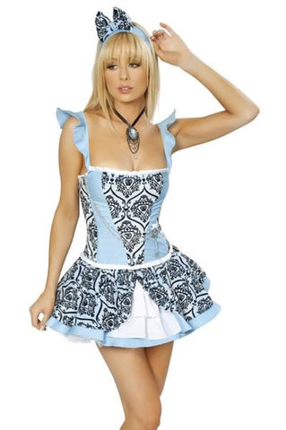 Blue Cat Costume for Women Princess Uniform Alice Outfit