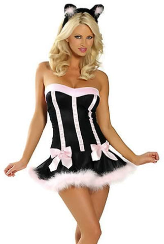 Cute Catwoman Dress for Women Halloween Cat Costume Outfit