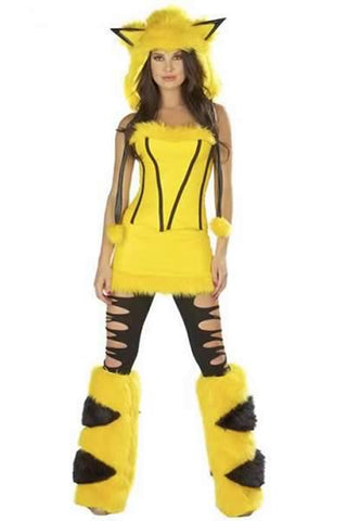 Sexy Pokemon Costume for Women Halloween Pikachu Uniform Outfit