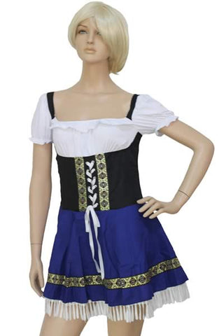 Pretty Beer Girl Costume Halloween Waitress Uniform Outfit