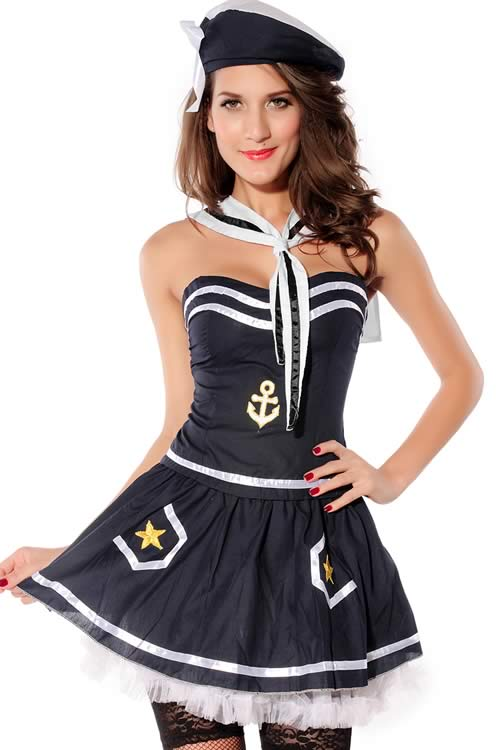 Exquisite Sailor Costume for Women Halloween Seaman Dress Outfit