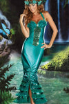 Queen Long Dress for Women Role Play Mermaid Costume