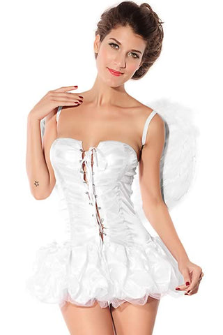 Angel Costume for Girl Halloween White Goddess Uniform