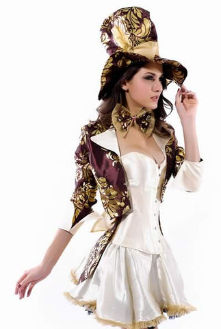 Deluxe Knight Costume for Women Tea Party Uniform Outfit