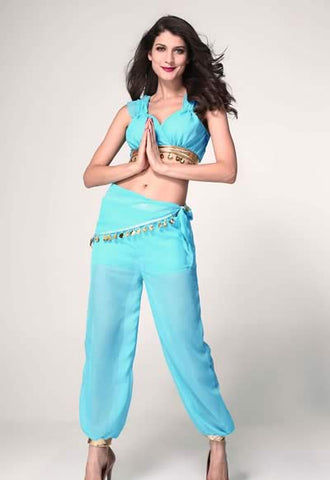 Sexy Genie Costume for Women Halloween Elves Uniform Outfit