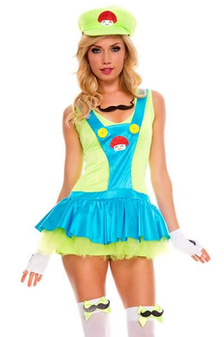 Sexy Super Mario Costume for Women Plumber Dress Uniform