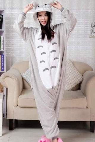 Cartoon Totoro Pajamas for Women Cosplay Koala Costume Loungewear
