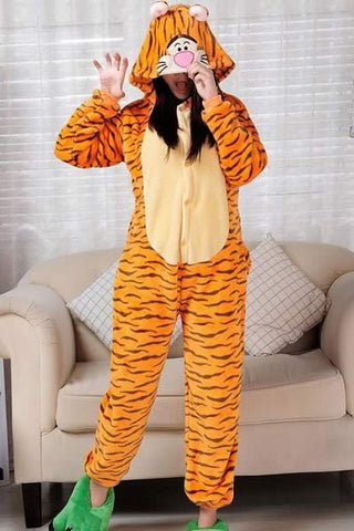 Happy Tiger Pajamas for Women Leopard Costume Loungewear Outfit