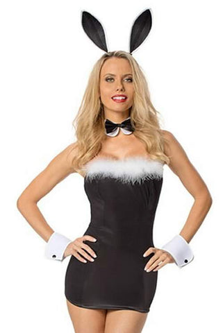 Born to Serve Bunny Costume for Women Sexy Rabbit Dress Uniform