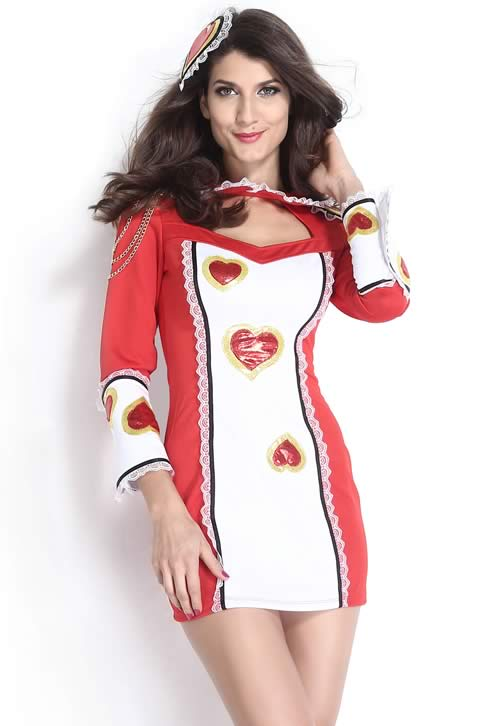 Sexy Playing Card Costume for Women Halloween Soldier Uniform