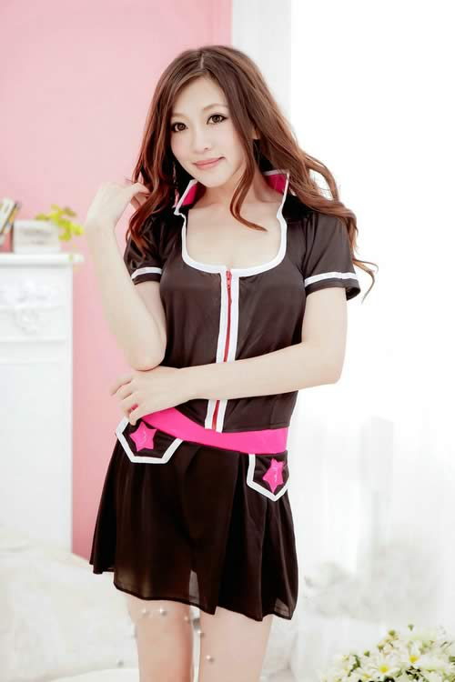 Sweet School Girl Costume for Women Office Lingerie Uniform Outfit