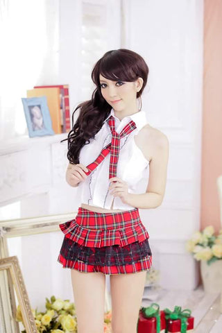 Schoolgirl Lingerie Uniform for Women Sexy Student Costume