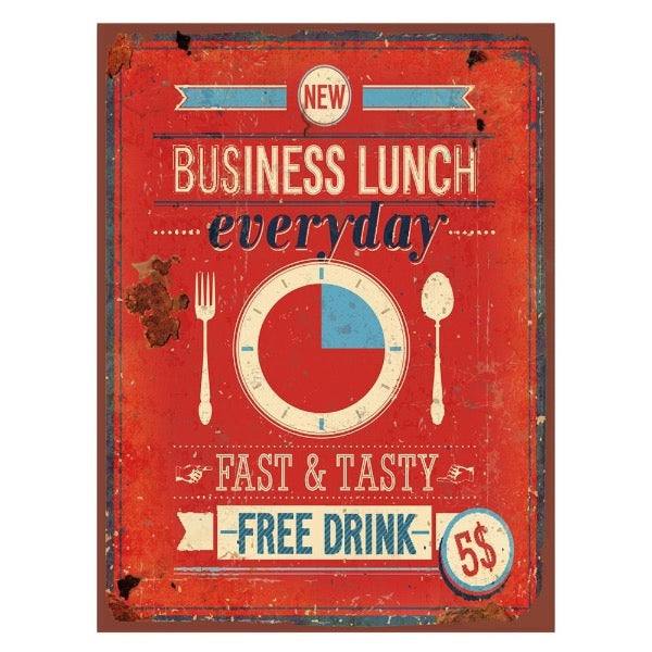 Quadro de metal - Business Lunch