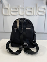 Load image into Gallery viewer, Black Middle Zip Backpack