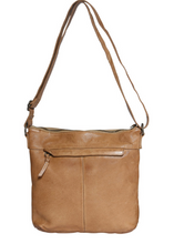 Load image into Gallery viewer, Ladies Leather Crossbody Bag Beige