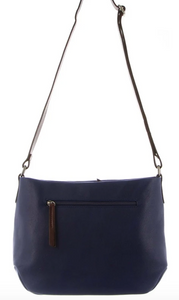 Nappa Two Tone Leather Crossbody