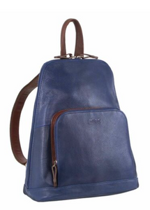 Leather Twin Zip Backpack