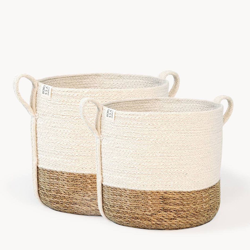 Savar Basket with Side handle (Individual or set of 2)