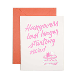Hangovers - Letterpress Card